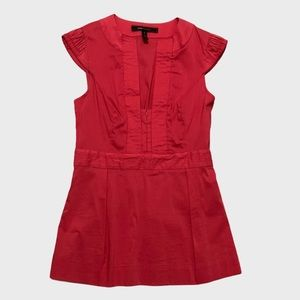 BCBGMaxAzria • Red Capped Sleeve Top
